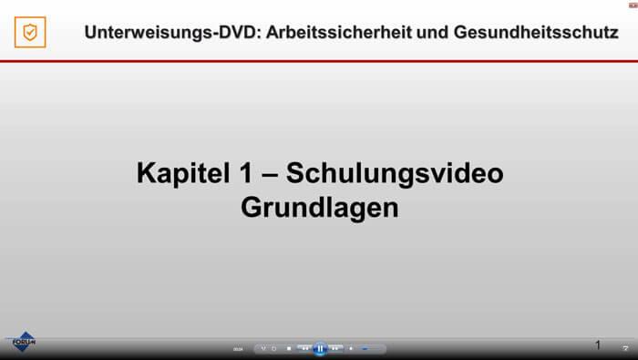 Trailer Unterweisungs-DVD Arbeitssicherheit und Gesundheitsschutz