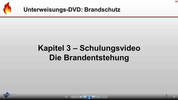 Trailer Unterweisungs-DVD Brandschutz