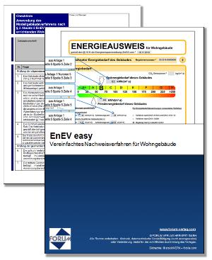 EnEV easy: Vereinfachtes Nachweisverfahren für Wohngebäude