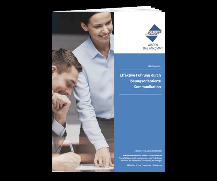 """Kostenloses E-Book """"Effektive Führung durch lösungsorientierte Kommunikation"""""""