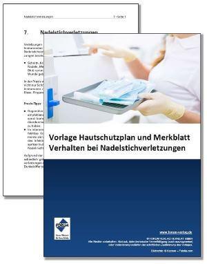 Gratis-Vorlage Hautschutzplan und Fachartikel über Nadelstichverletzungen