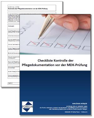 Gratis Checkliste zur Kontrolle der Pflegedokumentation vor der MDK-Prüfung