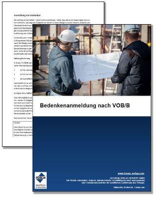 Gratis-Fachartikel über die Bedenkenanmeldung, Gewährleistung und Mängelansprüche gemäß VOB/B