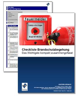 Gratis Checkliste für eine Brandschutzbegehung