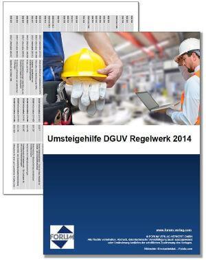 Gratis-Download: Umsteigehilfe DGUV Regelwerk 2014