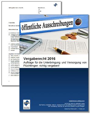 Vergaberecht 2016 Neuerungen