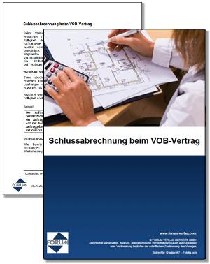 Gratis Fachartikel zum Thema Schlussabrechnung beim VOB-Vertrag