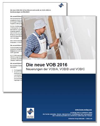 Gratis-Fachartikel über die Neuerungen der VOB 2016